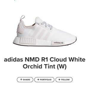 adidas NMD-R1 Cloud White with Orchid Tint